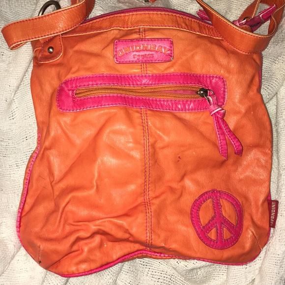 UNIONBAY Handbags - Union Bay Orange and Pink Crossbody